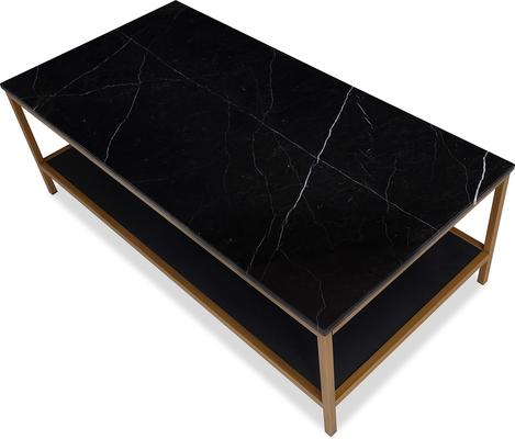 Max Coffee Table Marble and Brass image 8