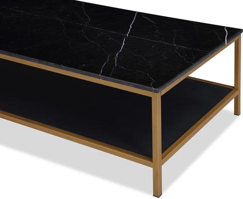 Max Coffee Table Marble and Brass image 9