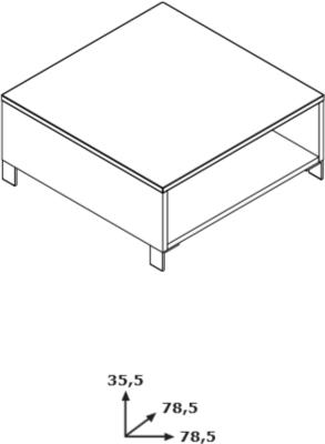 Modica Coffee Table - Gloss White and Grey   Finish image 2