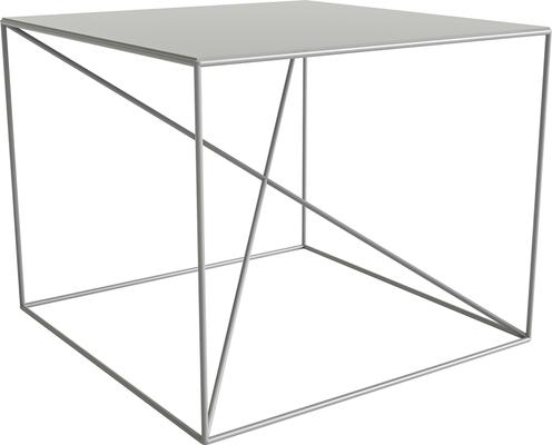 Small X Steel Side Table - White image 2