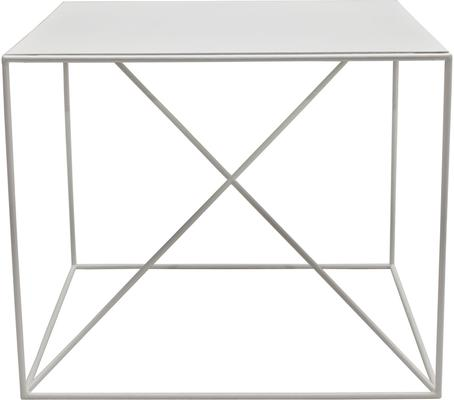 Small X Steel Side Table - White image 3