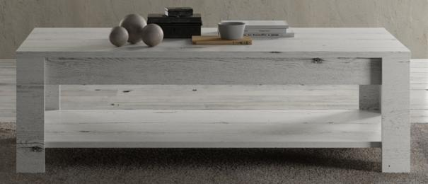 Livorno Coffee Table with Shelf - White Oak image 4