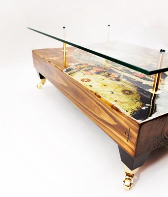 Queen Elizabeth Coffee Table with Glass Top image 2
