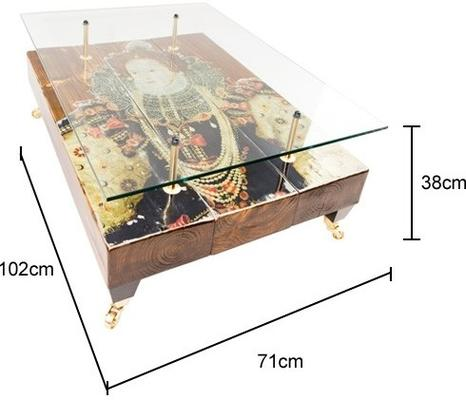 Queen Elizabeth Coffee Table with Glass Top image 5