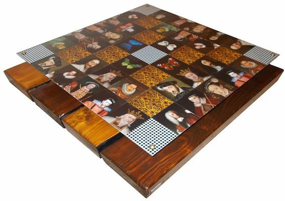 Checkered Kings Coffee Table with glass top image 2