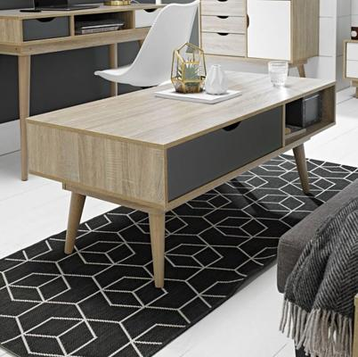 Scuna coffee table with drawer image 2