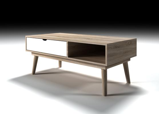 Scuna coffee table with drawer image 3