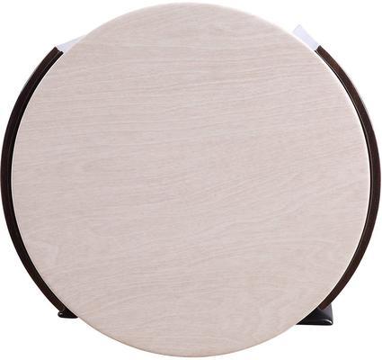 Milan Round Coffee Table High Gloss Walnut and Cream JF902 image 3