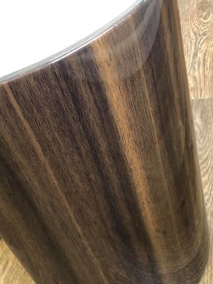 Milan Round Coffee Table High Gloss Walnut and Cream JF902 image 6