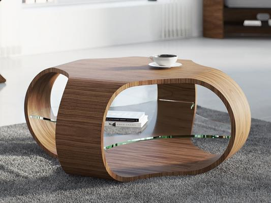 Tom Schneider Cornerless Quad Coffee Table