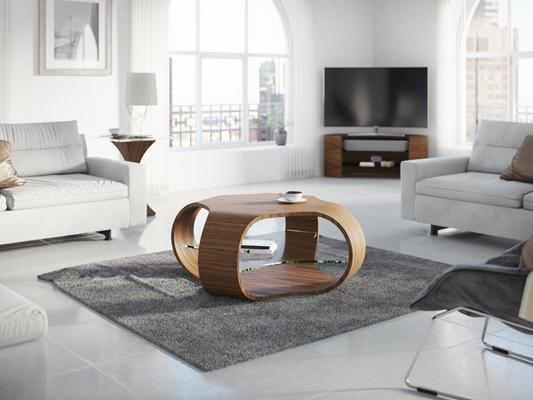 Tom Schneider Cornerless Quad Coffee Table image 5
