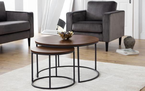 Santos round nesting coffee table
