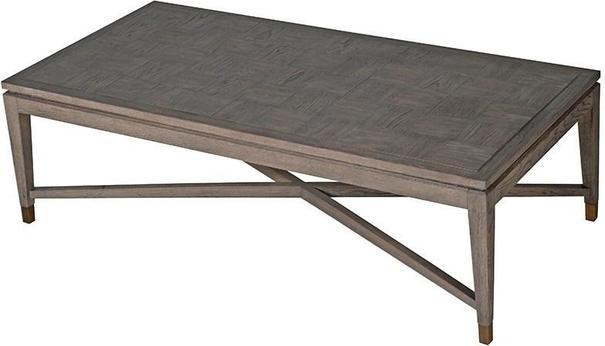 Bardon Oak Inlay and Brass Coffee Table