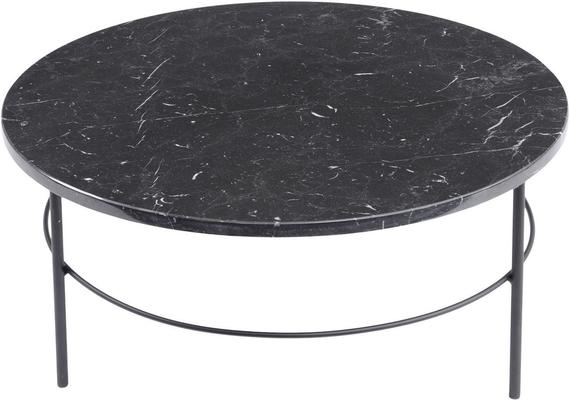 Chancery Marquina Round Black Marble Coffee Table