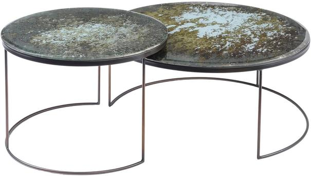 Rocky Antique Mirror Coffee Table Large Bronze image 2