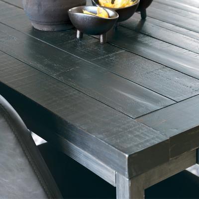 Hadley Charcoal Rectangular Coffee Table Dark Pine image 2
