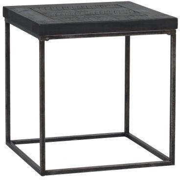 Hadley Charcoal Square Coffee / Side Table Dark Pine