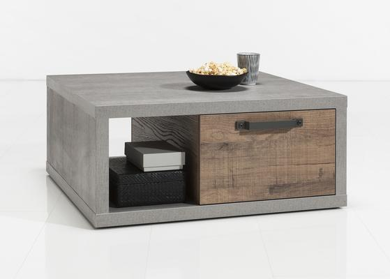 Manhattan Coffee Table - Grey and New Aged Oak Finish