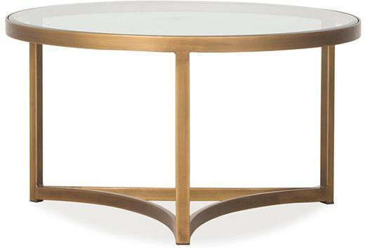 Sundance Brass Coffee Table Glass Top