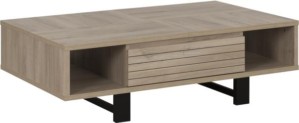 Clay Coffee Table One Drawer - Light Natural Oak Finish