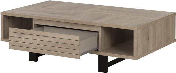 Clay Coffee Table One Drawer - Light Natural Oak Finish image 4