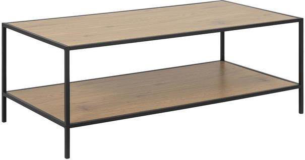 Seafor rectangular coffee table with shelf