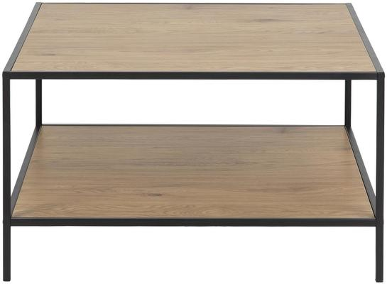 Seafor square coffee table with shelf image 2