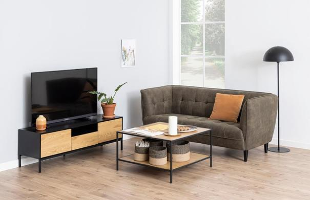 Seafor square coffee table with shelf image 3