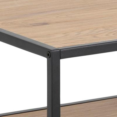 Seafor square coffee table with shelf image 4