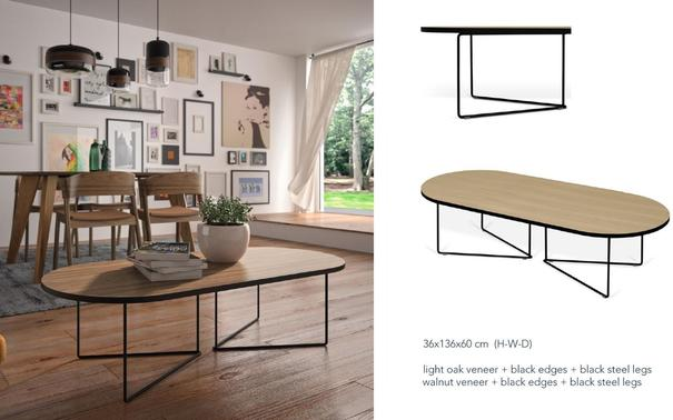 Oval coffee table image 10