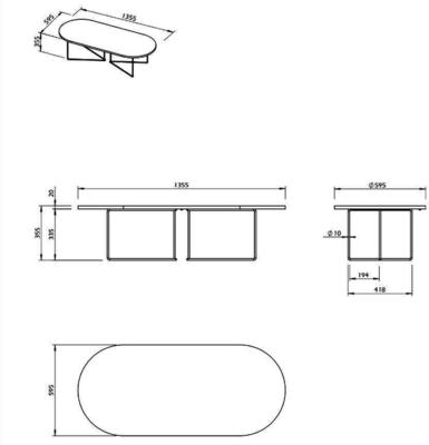 Oval coffee table image 11