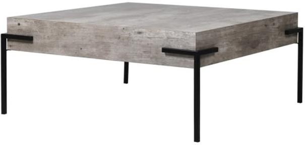 Brunswick Concrete Effect Coffee Table with Iron Frame