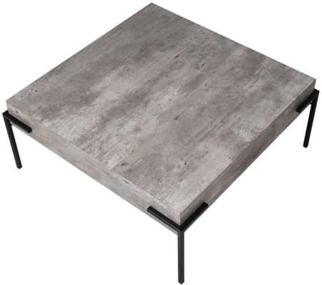 Brunswick Concrete Effect Coffee Table with Iron Frame image 2