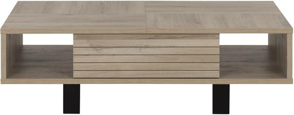 Clay Coffee Table One Drawer - Light Natural Oak Finish (Sale) image 2