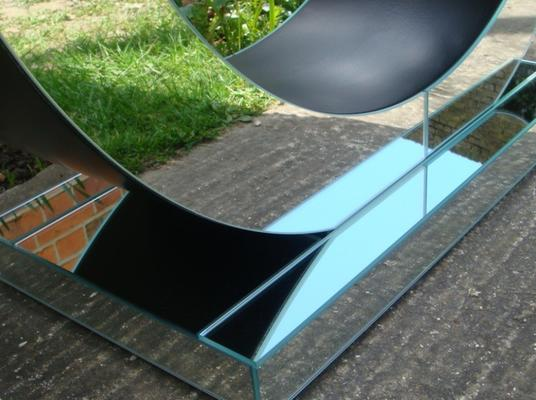 Art Deco Circle Mirrored Console