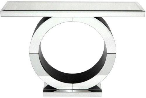 Art Deco Circle Mirrored Console image 3