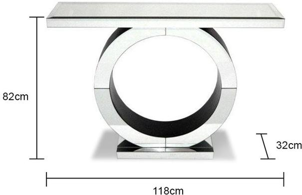 Art Deco Circle Mirrored Console image 4