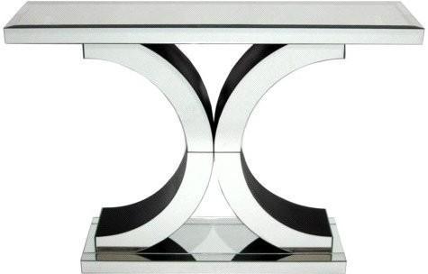 Venetian Mirrored U0027Xu0027 Console Table