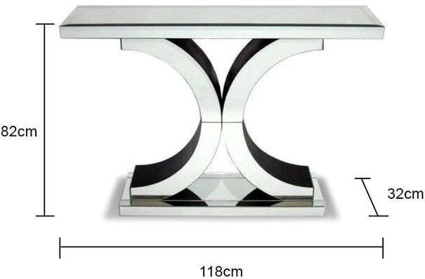 Venetian Mirrored 'X' Console Table image 3