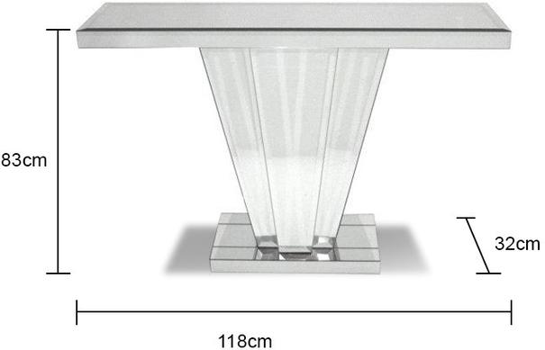Venetian Mirrored Fan Console Table Art Deco image 3