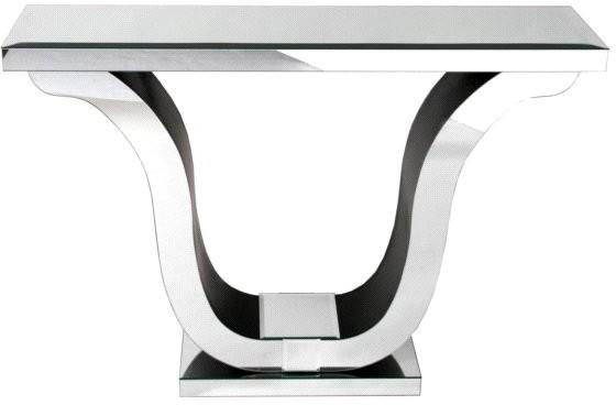 Venetian Mirrored Harp Console Table Art Deco