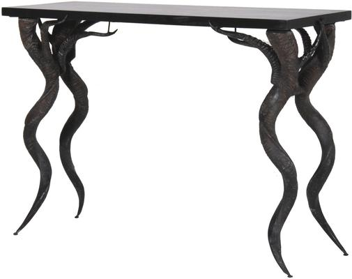 Antelope Horn Console Table in Black