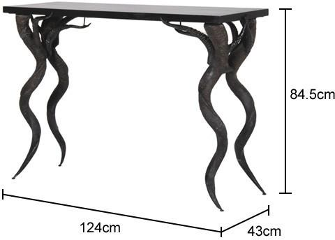 Antelope Horn Console Table in Black image 2