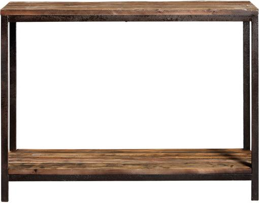Industrial Wood and Metal Console
