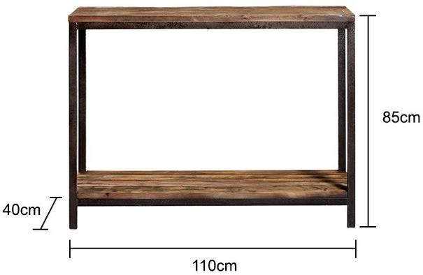 Industrial Wood and Metal Console image 2