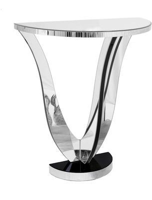 Semi-Circle Mirrored Console Table Art Deco