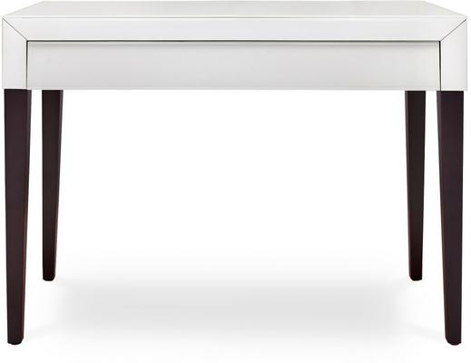 Pure White Glass/Wenge Legs Console Table image 2