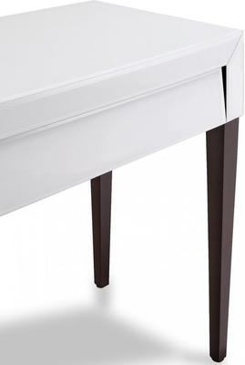 Pure White Glass/Wenge Legs Console Table image 4