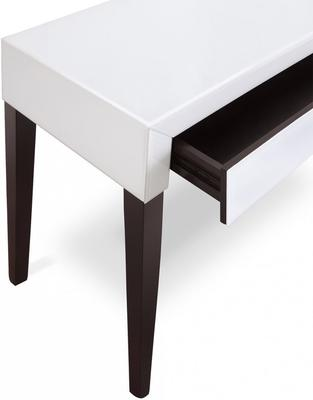 Pure White Glass/Wenge Legs Console Table image 5