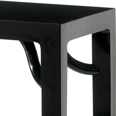 Ming Console Table, Black Lacquer image 3